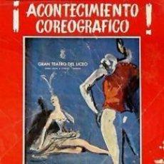 Carteles Espectáculos: CARTEL.LICEO BARCELONA. BALLET DE BELGRADO,1965.33X46,.. Lote 33499254