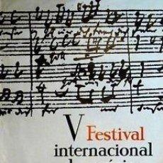Carteles Espectáculos: CARTEL V FESTIVAL INTER. MÚSICA BARCELONA.1967.68X98 CM. Lote 33525788