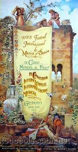 CARTEL GRANADA.XII CONCURSO MANUEL DE FALLA.1980. 43X80 (Coleccionismo - Carteles Gran Formato - Carteles Circo, Magia y Espectáculos)
