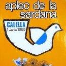 Carteles Espectáculos: CARTEL CALELLA APLEC DE LA SARDANA 1969. CATALUNYA. MÚSICA. LITOGRAFIA. 45X65. Lote 33561305