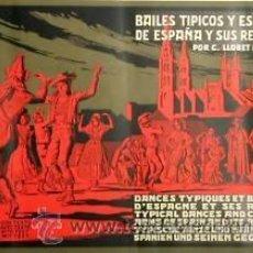 Carteles Espectáculos: CARTEL BAILES TÍPICOS Y ESCUDOS. 1930. ANÒNIM.. Lote 33579394