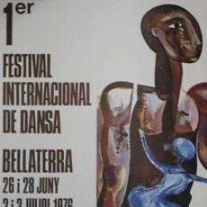Carteles Espectáculos: CARTEL 1ER FESTIVAL INTER. DANSA.1976.J. ALUMÁ.50X74CM. Lote 33579713