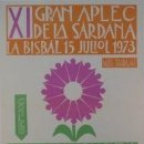 Carteles Espectáculos: CARTEL XI GRAN APLEC DE LA BISBAL 1973. VILÁ CLARÁ.. Lote 33579742