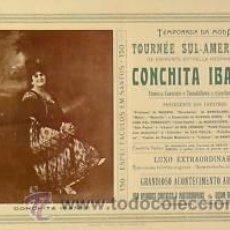 Carteles Espectáculos: CARTEL CONCHITA IBAÑEZ.C. 1930. 49X33 CM. BRASIL. Lote 33579891