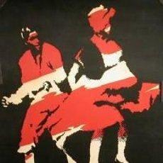 Carteles Espectáculos: CARTEL PERÚ NEGRO. 1972. 50 X 70 CM.. Lote 33580188