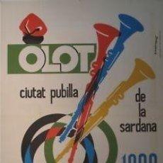 Carteles Espectáculos: CARTEL.OLOT CIUTAT PUBILLA DE LA SARDANA.1968.SALAPLANA. Lote 33580323