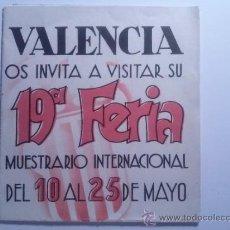 Carteles Espectáculos: DOS PROGRAMAS FERIA MUESTRARIO INTERNACIONAL DE VALENCIA. 1935 Y 1936. Lote 33769876