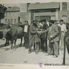 Carteles Espectáculos: ASTORGA LEON FERIA DE GANADO HUECOGRABADO AÑOS 40. Lote 34392993