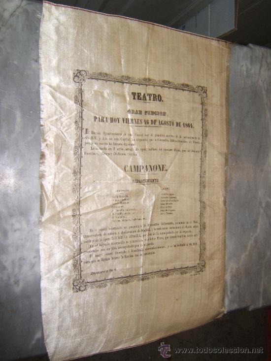 Carteles Espectáculos: CARTEL PUBLICITARIO SEDA TEATRO DE VITORIA SIGLO XIX - Foto 4 - 34397630