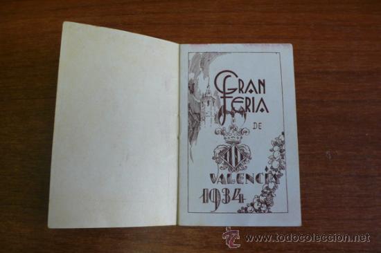 Carteles Espectáculos: PROGRAMA OFICIAL GRAN FERIA DE VALENCIA 1934. - Foto 2 - 34403661