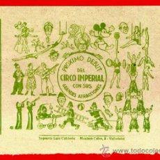 Carteles Espectáculos: PEQUEÑO CARTEL CIRCO , IMPERIAL , MICKEY MOUSE , DISNEY , ORIGINAL , C131. Lote 34740471