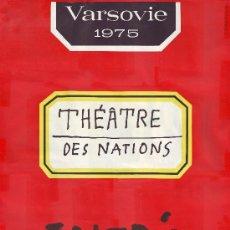 Affiches Spectacles: THÉÂTRE DES NATIONS (VARSOVIE. 1975). ILUSTR. H. THOMASZEWSKI / CARTEL TEATRO. Lote 43160537