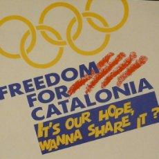 Carteles Espectáculos: CARTEL FREEDOM FOR CATALONIA. Lote 37343815