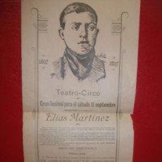 Carteles Espectáculos: + ZARAGOZA. TEATRO CIRCO. AÑO 1897 CARTEL FUNCION BENÉFICA. 32 X 14,5 CM ORIGINAL.. Lote 38327699