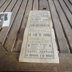 Carteles Espectáculos: CARTEL TEATRO CERVANTES SEVILLA DOMINGO 22 DE FEBRERO 1931. Lote 40064640