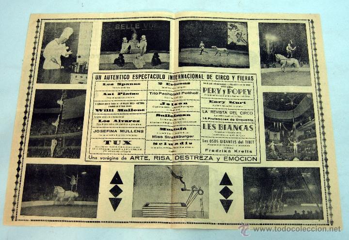 Carteles Espectáculos: Programa circo alemán Berlín Zirkus 59 Cuesta Calesas Madrid Pery y Popey - Foto 3 - 40821907