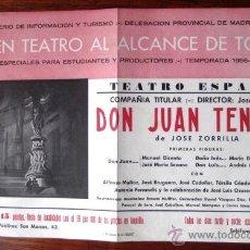Carteles Espectáculos: CARTEL DE TEATRO. - DON JUAN TENORIO -. TEATRO ESPAÑOL MADRID 1957.. ENVIO GRATIS¡¡¡. Lote 40908604