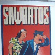 Carteles Espectáculos: CARTEL DE CIRCO-SAWARTOS-PERFECTO ESTADO-AÑOS 20/30-GRAFICAS VIOR-99X34CM. Lote 41246517