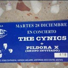 Carteles Espectáculos: ENTRADA DE CYNICS+PILDORAS. Lote 41066298