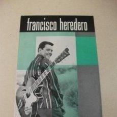 Carteles Espectáculos: MÚSICA - CARTEL FRANCISCO HEREDERO EN DISCOS VERGARA. Lote 183895095