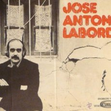 Carteles Espectáculos: CARTEL JOSE ANTONIO LABORDETA. Lote 41580274