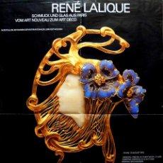 Carteles Espectáculos: CARTEL RENE LALIQUE. MUSEUM BELLERIVE. Lote 41604995