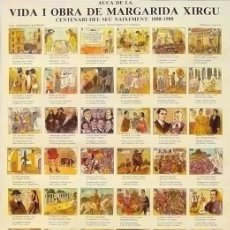 Carteles Espectáculos: CARTEL AUCA DE LA VIDA I OBRA DE MARGARIDA XIRGU. 34 X 46 CM.. Lote 41611401