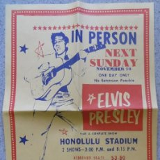 Carteles Espectáculos: CARTEL HONOLULU STADIUM IN PERSON ELVIS PRESLEY - ENGLAND MUSEUM WREXHAM. Lote 41988569