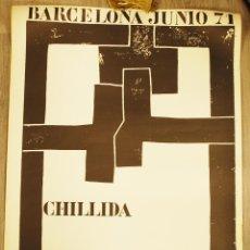 Carteles Espectáculos: CARTEL ORIGINAL EXPOSICIÓN DE CHILLIDA. SALA GASPAR. BARCELONA. 1971. Lote 42471434