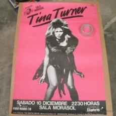 Carteles Espectáculos: CARTEL DEL CONCIERTO DE TINA TURNER EN MADRID - SALA MORASOL - 1983. Lote 42510385