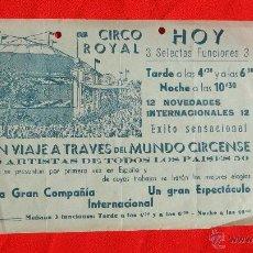 Carteles Espectáculos: CIRCO ROYAL, PROGRAMA DE MANO AÑOS 50, 16X23 CM. Lote 42510603