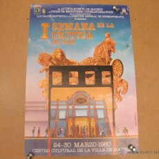 Carteles Espectáculos: CARTEL DE LA I SEMANA DE LA CRITICA DE CINE - 1980. Lote 42510994