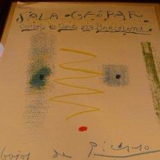 Carteles Espectáculos: CARTEL EXPOSICION PICASSO 1961 GALERIA SALA GASPAR. Lote 43110905