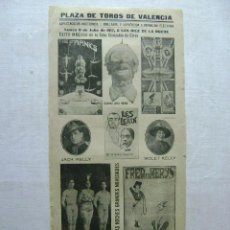 Carteles Espectáculos: PLAZA DE TOROS DE VALENCIA.GRAN COMPAÑIA DE CIRCO.1917.T030. Lote 43389626
