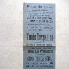 Carteles Espectáculos: VALENCIA .CIRCO DE VERANO 1912.T-082. Lote 43511562