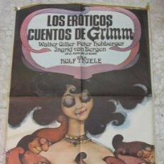 Carteles Espectáculos: CARTEL ORIGINAL LOS EROTICOS CUENTOS DE GRIMM. Lote 43707908
