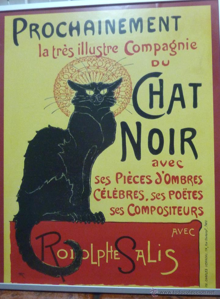 cartel cartón duro / madera chat noir . cabare - Comprar Carteles ...