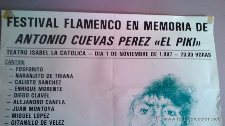 Carteles Espectáculos: FESTIVAL FLAMENCO EN MEMORIA DE ANTONIO CUEVAS (PIKI) 1987 GRANADA CON ENRIQUE MORENTE - Foto 2 - 44245364