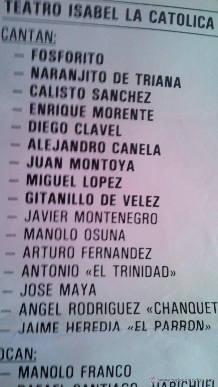 Carteles Espectáculos: FESTIVAL FLAMENCO EN MEMORIA DE ANTONIO CUEVAS (PIKI) 1987 GRANADA CON ENRIQUE MORENTE - Foto 3 - 44245364