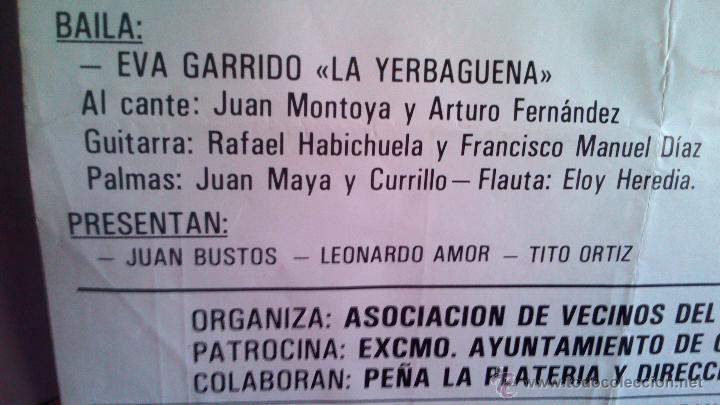 Carteles Espectáculos: FESTIVAL FLAMENCO EN MEMORIA DE ANTONIO CUEVAS (PIKI) 1987 GRANADA CON ENRIQUE MORENTE - Foto 5 - 44245364