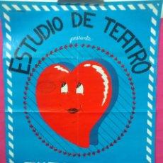 Carteles Espectáculos: ORIGINAL CARTEL ESTUDIO DE TEATRO PRESENTA: ''TITA RUFA'' ( DISEÑO MUERDAGO ). Lote 45111609