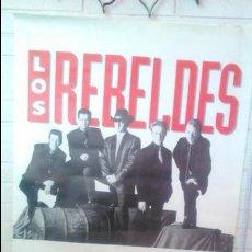 Carteles Espectáculos: GRAN CARTEL CONCIERTO LOS REBELDES AÑOS90 68*98CM MUSICA EN CUERPO Y ALMA COCA-COLA BARCELONA. Lote 45462747