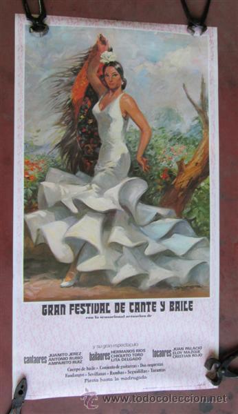 GRAN FESTIVAL DE CANTO Y BAILE (Coleccionismo - Carteles Gran Formato - Carteles Circo, Magia y Espectáculos)
