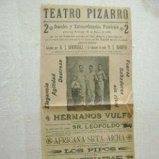 Carteles Espectáculos: TEATRO PIZARRO,VALENCIA 1905.T-113. Lote 46338512