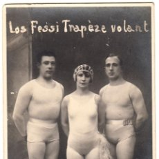 Carteles Espectáculos: POSTAL PUBLICITARIA 'LOS FESSI TRAPÈZE VOLANT'. CA. 1920. POSTAL NO CIRCULADA. Lote 46620832