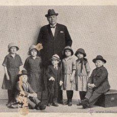 Carteles Espectáculos: POSTAL PUBLICITARIA CONJUNTO ANÓNIMO DE ENANOS.. CA. 1920. . Lote 46620918
