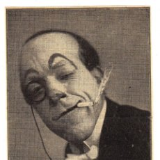 Carteles Espectáculos: TARJETÓN PUBLICITARIO (TAMAÑO TARJETA POSTAL) DEL MALABARISTA COMICO 'LERIN'. CA. 1930.. Lote 46622809
