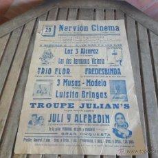 Carteles Espectáculos: CARTEL DE CIRCO NERVION CINEMA GRAN PLAZA SEVILLA AÑOS 50 MIDE 64 X 44 CM. Lote 113222750
