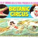 Carteles Espectáculos: BRITANIC CIRCUS. PROGRAMA DE MANO. MUJER CONTRA LOS COCODRILOS, CA. 1965. Lote 46951686