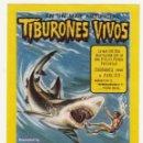 Carteles Espectáculos: RINGLAND CIRCUS BROS. PROGRAMA DE MANO. TIBURONES VIVOS. CA. 1970. Lote 108873695
